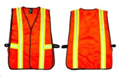 Rental store for VEST, SAFETY ORANG W  STRIPES in Brownsburg IN