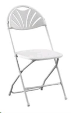 Rental store for CHAIR WHITE FAN BACK in Brownsburg IN